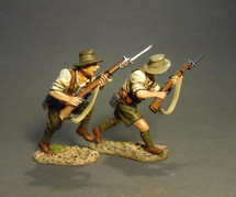 ANZAC's Charging (white shirts), Battle of Gallipoli 1915--two figures
