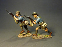 ANZAC's Charging (blue shirts), Battle of Gallipoli 1915--two figures