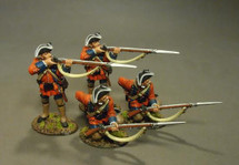 4 Line Infantry Skirmishing, 60th (ROYAL AMERICAN), REGIMENT OF FOOT (4 pcs)