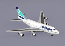 Corsair (France) B747sp Gemini Diecast Display Model