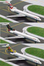 British Airways Two Plane Set Gemini Diecast Display Model