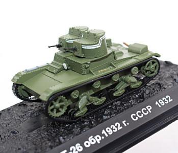 T-26 Soviet Light Infantry Escort Tank USSR 1931 Year 1//72 Scale Model