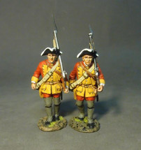 Two Line Infantry Marching, The Connecticut Provincial Regiment, The Raid on St. Francis, 1759‰ two figures