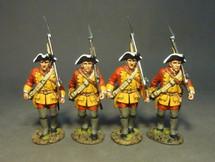 Four Line Infantry Marching, Set #1, The Connecticut Provincial Regiment