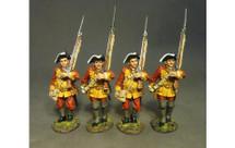 Four Line Infantry Marching, Set #2, The Connecticut Provincial Regiment