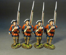 Four Line Infantry Marching, Set #3, 60th (Royal American), Regiment of Foot