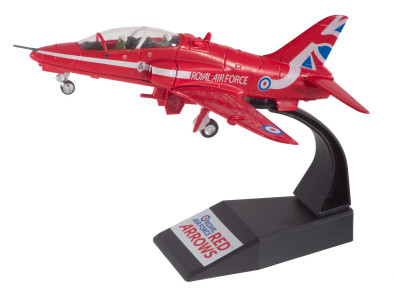 MODEL RED ARROWS JET RAF UK BRITISH AEROSPACE HAWK Red Arrows Display Team Model