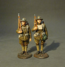 Two U.S. Marines Corpsmen, The American Expeditionary Forces - two figures