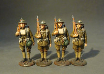 Four U.S. Marine Corpsmen Set #1, The American Expeditionary Forces - figures