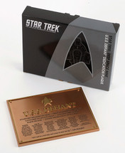USS Defiant Dedication Plaque