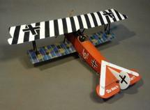 Fokker DVII, Jasta 4, Beugneux, June 1918, Ltn. Ernst Udet, Black & White
