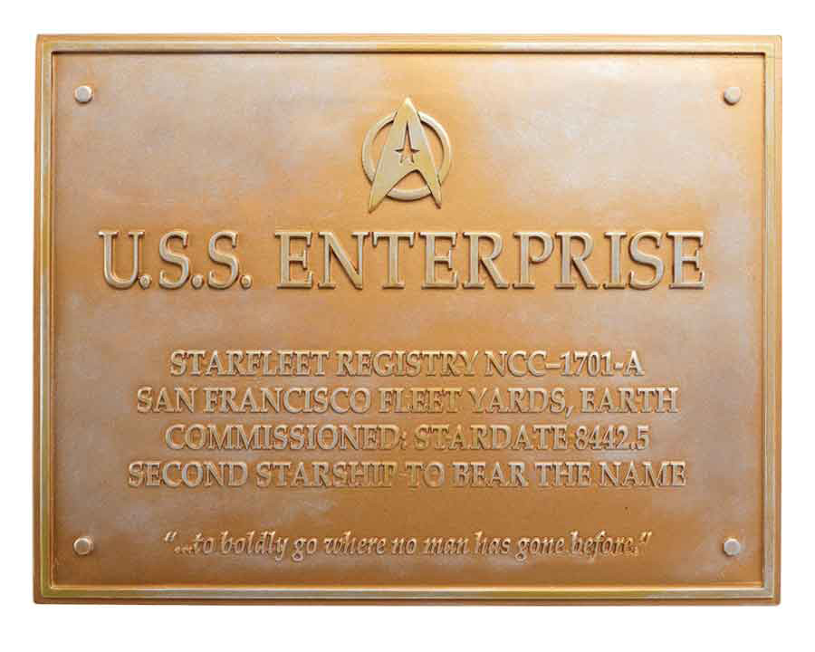 Enterprise Plaque NCC-1701-A Dedication Plaque Eaglemoss Star Trek U.S.S