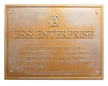 U.S.S Enterprise NCC-1701-A Dedication Plaque