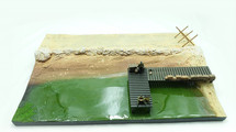 Malinava Counterattack Part B 30cm x 20cm Polystone and Resin Diorama