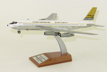 Continental Airlines Boeing 720 N57202 Polished With Stand