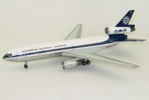"ONA DC-10-30 N1034F ""Holidayliner Liberty"" Polished With Stand"