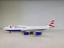 British Airways Boeing 747-400 G-BYGB With Stand