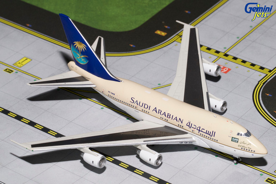 Saudia 747SP, HZ-HM1B Gemini Diecast Display Model
