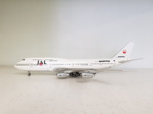 Japan Airlines JAL Boeing 747-300 VH-EBX Qantas/JAL livery With Stand