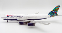 British Airways Boeing 747-400 G-BNLN Nalanji Dreaming w/ Stand