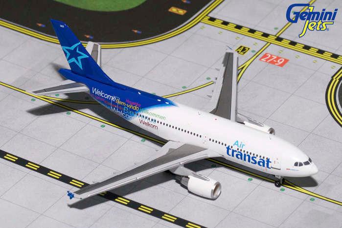 Air Transat A310 300 C Glat Gemini Diecast Display Model 1 400