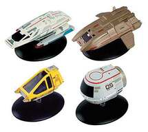 Star Trek Shuttlecraft Die Cast Model 4-Pack #3 Argo, Shuttlecraft Type-11, Travel Pod and Work Bee