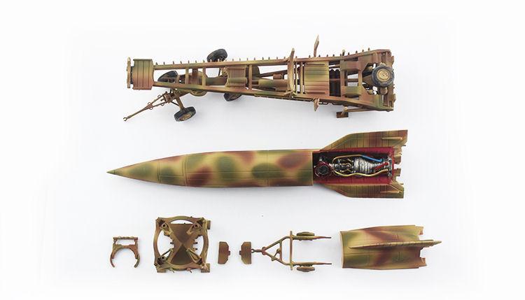 V-2 Rocket with Meillerwagen and Brennstand, Gebatikt Camouflage, German  Army, Summer 1943