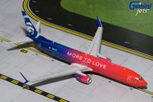 Alaska Airlines 737-900, N493AS More to Love Gemini Diecast Display Model