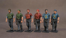 Aircraft Carrier Flight Deck Crew, WWII, 2 Flight Deck Crew Walking (6pcs)