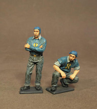 Two Plane Handlers, Aircraft Carrier Flight Deck Crew, The Second World War, two figures