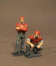 Two Ordnancemen, Aircraft Carrier Flight Deck Crew, The Second World War, two figures