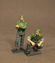 Two Catapult Crew, Aircraft Carrier Flight Deck Crew, The Second World War, two figures