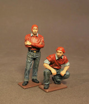 Two Ordnancemen, USS Saratoga (CV-3), Inter-War Aviation, two figures