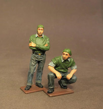Two Catapult Crew, USS Saratoga (CV-3), Inter-War Aviation, two figures