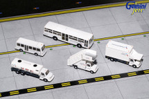 American Airlines Ground Equipment Set for 1:200 scale, Trucks Gemini Diecast Accessories