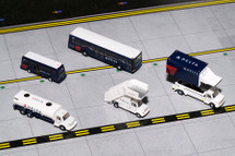 Delta Ground Equipment Set for 1:200 scale, Trucks Gemini Diecast Accessories