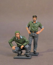 Two Catapult Crew #2, Aircraft Carrier Flight Deck Crew, WWII, two figures