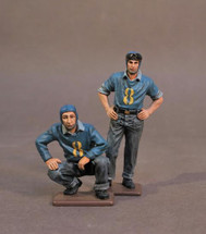 Two Plane Handlers #2, USS Saratoga (CV-3), Inter-War Aviation, two figures
