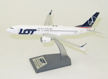 LOT Boeing 737-8 Max SP-LVA With Stand