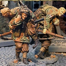 Red Devil Wounded Team, Two Figures, British 1st Airborne Division, Battle of Arnhem Series