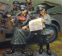 German General Rommel and Adjutant Atlantic Wall, D-Day Normandy