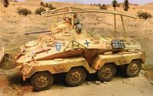 German Sd. Kfz. 232 Armored Car Deutsches Afrika Korps, Panzers Rollen in Afrika Vor (February 1941 - Oct. 1942)