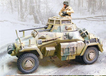 German Sd. Kfz. 222 Vehicle Winter 1944 w/ One Figure