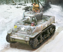 "US M5 Stuart Light Tank ""Bombardier"", 4th Armored Division, Winter 1944"