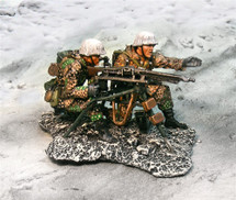 German Winter SS, Two Figure Machine Gun Team