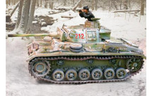 German PzkpfwIII M Winter Version with one Crew