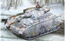 PzKpfw IV J Winter, 1 crew, 1 casualty opening hatches, Thrown Track, Full Thoma Shurzehn Set
