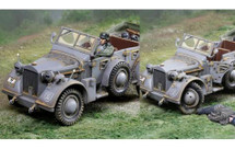 Horch Grey, car and two figures (destroyed option set and casualty figure included)