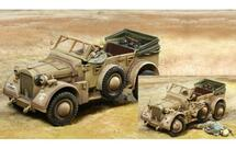 Horch Afrika Korps, Car and two figures (destroyed option set and casualty figure included)