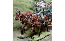 German WWII Limber Horse Set (Heer), includes two horses and one rider figure (CS-00872A and CS-00872B)